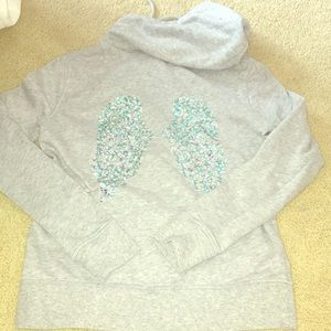 Victoria's Secret sequined wings zip up hoodie